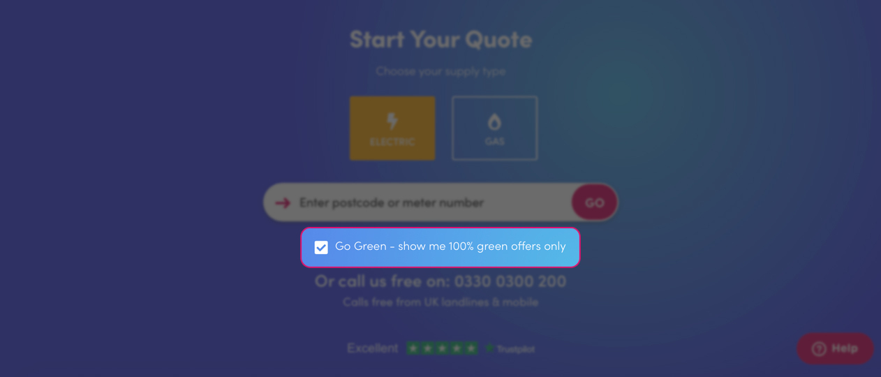 Business Energy Quotes Screenshot to Select Green Energy