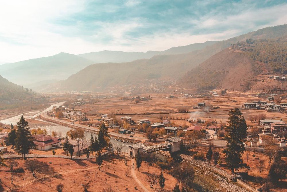 A Bhutanese village